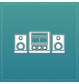 stereo flat icon vector image vector image