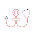 stethoscope in shape of female symbol vector image vector image