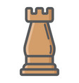 Strategic plan colorful line icon rook chess vector image