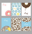 sweet donuts cards vector image