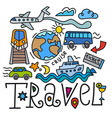 travel signboard vector image vector image