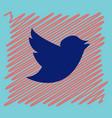 tweet bird logotwitter icon buttonflat social vector image vector image