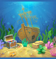Underwater landscape The ocean and the undersea vector image vector image