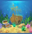 underwater landscape the ocean and undersea vector image vector image