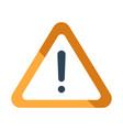 warning flat vector image vector image