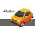 yellow city car vector image vector image