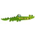 cute cartoon crocodile character vector image