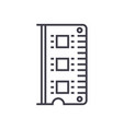 rammemory line icon sign on vector image