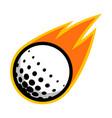 sport ball fire golf vector image
