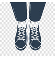icon of feet in sports shoes vector image