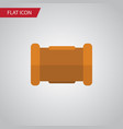 isolated cast iron flat icon pipe element vector image