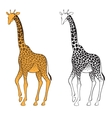 Set of two giraffes Wall stickers vector image
