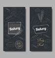 bakery background flat vector image
