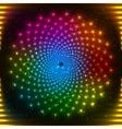 Abstract rainbow neon circle vector image