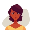 African girl face angry facial expression vector image vector image