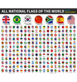 all national flags world speech bubble vector image vector image