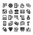 banking and finance line icons 4 vector image vector image