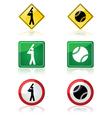 Baseball signs vector image vector image
