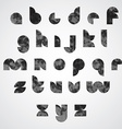 Black dotty graphic lower case letters round vector image
