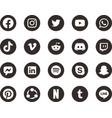 black white social media icon 2019 vector image