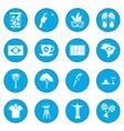brazil icon blue vector image vector image