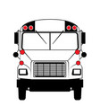 bus in black and white front view vector image