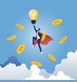 businessman creating business ideas vector image