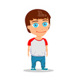Cartoon Boy Character isolated on white background vector image vector image