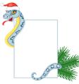 Cartoon snake keeps a card vector image vector image