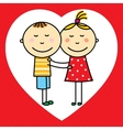Children in love vector image vector image