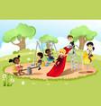 children in playground vector image