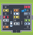 city top view parking with cars vector image vector image