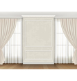 Classic interior with panel moldings and windows vector image vector image