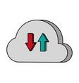 cloud computing data vector image vector image