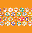 Colorful Donut Border Background vector image