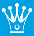 crown icon white vector image vector image