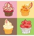 Delicious Cupcake set vector image vector image