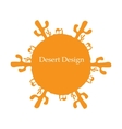 Desert sun concept image for your design vector image vector image