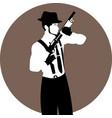 faceless vintage man with a shotgun vector image vector image