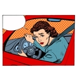 female driver offending transport traffic rules vector image vector image