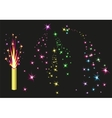 Fireworks fountain Colorful fireworks sparks on vector image vector image