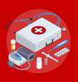 flat concept of mobile health online medical vector image vector image
