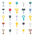 flat different type keys vector image vector image