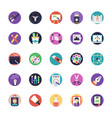 flat icon set of art and design vector image vector image
