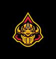 gold guardian helmet vector image vector image