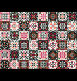 gorgeous seamless pattern moroccan portuguese vector image