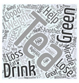 Green Tea The Miracle Weight Loss Drink Word Cloud