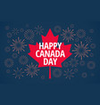 happy canada day blue background with red canada vector image vector image