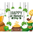 happy st patrick event celebration design vector image vector image