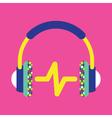 Headphones Icon Music Icon Music vector image